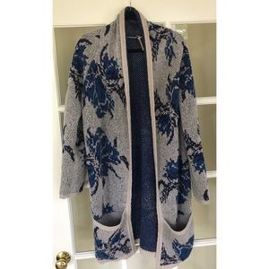 Free People Floral Open Cardigan - Size Medium